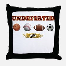 Undefeated Throw Pillow