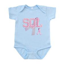 SQL initials, Pink Ribbon, Body Suit