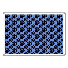 Dog Paws Carolina Blue Banner