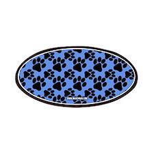 Dog Paws Carolina Blue Patches