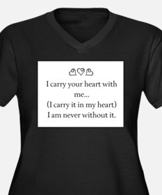 I CARRY YOUR HEART WITH ME Women's Plus Size V-Nec