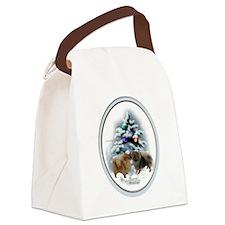 Pomeranian Christmas Canvas Lunch Bag