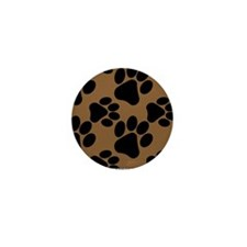 Dog Paws Brown Mini Button