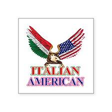 """Italian American Square Sticker 3"""" x 3"""""""