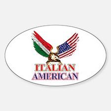 Italian American Sticker (Oval)