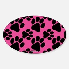 Dog Paws Bright Pink Decal