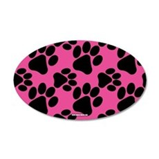 Dog Paws Bright Pink Wall Decal