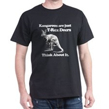 kangaroo trex deer funny tyrannosaurus T-Shirt