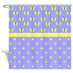 Butterflies and Polka Dots Shower Curtain