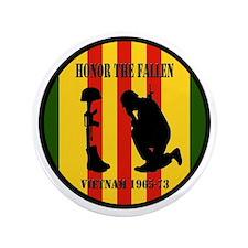 """Honor the Fallen Vietnam 1965-73 3.5"""" Button"""