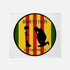 Honor the Fallen Vietnam 1965-73 Throw Blanket