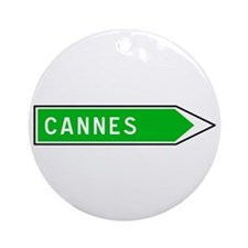 Roadmarker Cannes - France Ornament (Round)