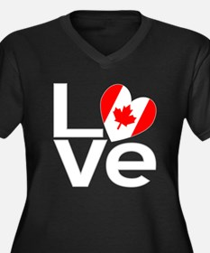 White Canadian LOVE Plus Size T-Shirt