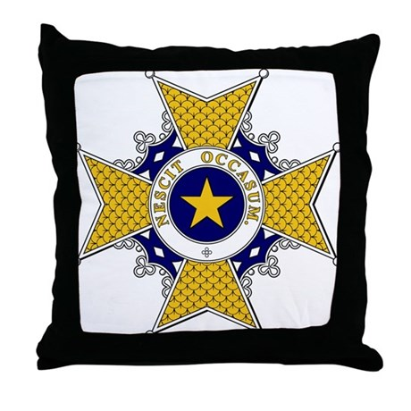 Polar Star (Sweden) Throw Pillow