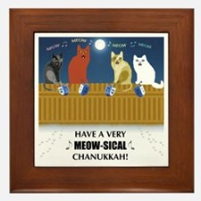 Meow-sical Chanukkah Framed Tile