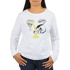 Skull Cant Haz Beer Long Sleeve T-Shirt