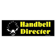 Handbell Director Black Bumper Bumper Sticker