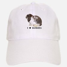 """I love bunnies 1"" Baseball Baseball Cap"