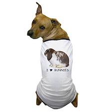 """""""I love bunnies 1"""" Dog T-Shirt"""