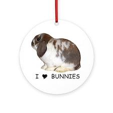"""I love bunnies 1"" Ornament (Round)"
