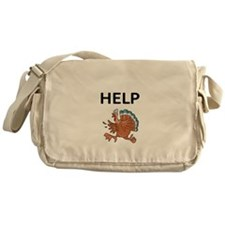 HELP WITH TURKEY Messenger Bag