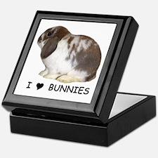 """""""I love bunnies 1"""" Keepsake Box"""