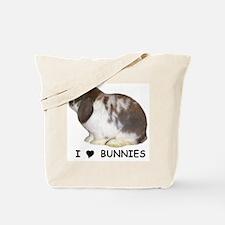 """I love bunnies 1"" Tote Bag"