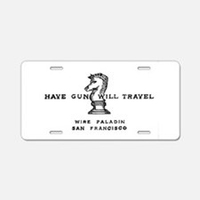 Funny Paladin Aluminum License Plate