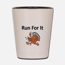 Run for it with Turkey Shot Glass
