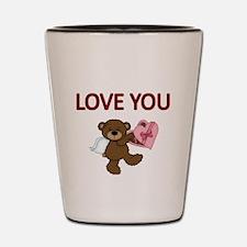 LOVE YOU Shot Glass