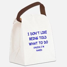 told Canvas Lunch Bag