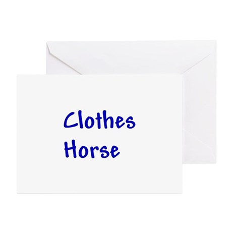 Clothes Horse Greeting Cards (Pk of 10)