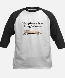 Happiness Is A Long Wiener dachshund Tee
