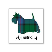 """Terrier - Armstrong Square Sticker 3"""" x 3"""""""