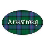 Tartan - Armstrong Sticker (Oval)