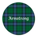 Tartan - Armstrong Round Car Magnet
