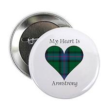 """Heart - Armstrong 2.25"""" Button"""