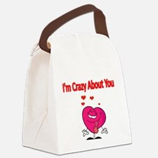 Im Crazy about You Canvas Lunch Bag