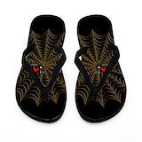 Black widow spider flip flops Flip Flops