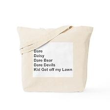 List of Darren's Nicknames Tote Bag
