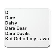 List of Darren's Nicknames Mousepad