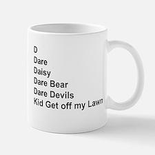 List of Darren's Nicknames Mug