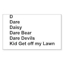List of Darren's Nicknames Decal