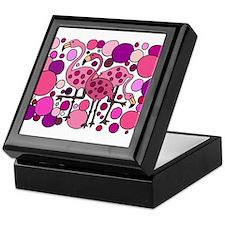 Colorful Flamingo Original Art Keepsake Box