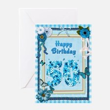 50th birthday craft-look card Greeting Card