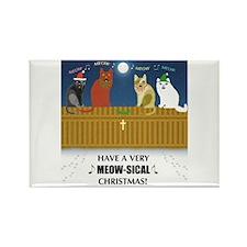 Meow-sical Christmas Rectangle Magnet