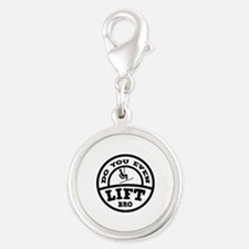 Do You Even Lift Bro? Silver Round Charm