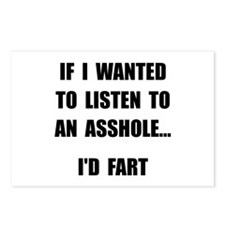 Asshole Fart Postcards (Package of 8)