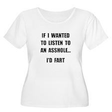 Asshole Fart Plus Size T-Shirt