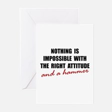 Attitude Hammer Greeting Cards (Pk of 20)